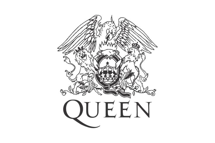 Queen logo gallery đồ họa pinterest queens and music icon
