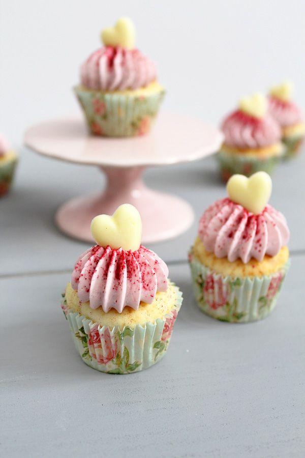 Rezept für Himbeer Cupcakes mit Quark