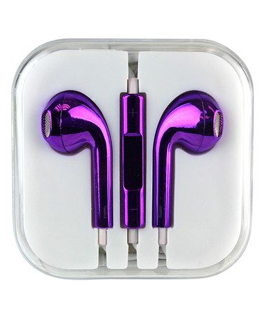 Take a look at this Metallic Purple In-Ear Headphones on zulily today!