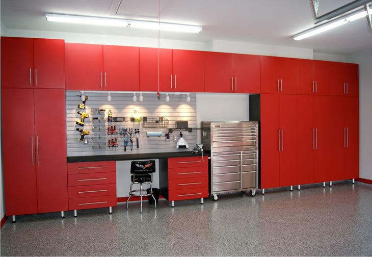 Red Ikea Cabinets For Garage | Garage | Pinterest | Garage Storage Cabinets,  Garage Shelving And Garage Storage
