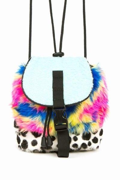 Nasir Mazhar fun fur & dalmatian mini backpack