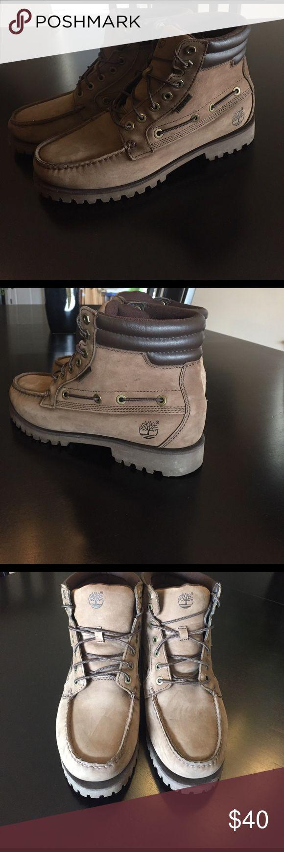 Men's brown Timberland boots Men's brown Timberland boots. Size 9.5. Barely worn! Timberland Shoes Boots
