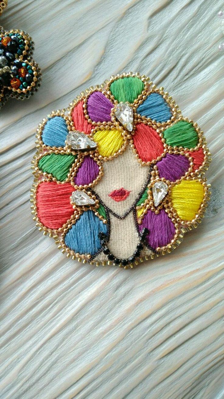 Spring girl brooch