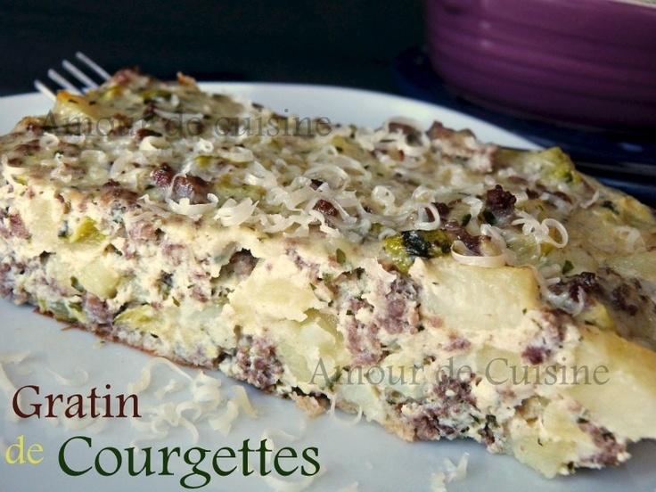 gratin de courgettes: Mond Gratin, Aux Courgett, Zucchini, Gratin Aux, De Gratin, Gratin, Courgett Recett, Délicieux Gratin, Ou Gratin