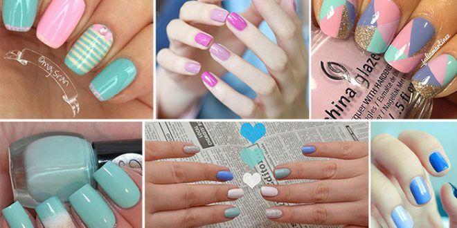 Παστέλ μανικιούρ: 48 υπέροχες ιδέες για εντυπωσιακά καλοκαιρινά νύχια