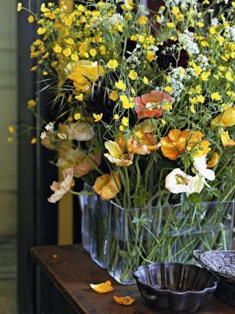 bouquet de fleurs jaunes : chez Claire Basler, Marie Claire Italia