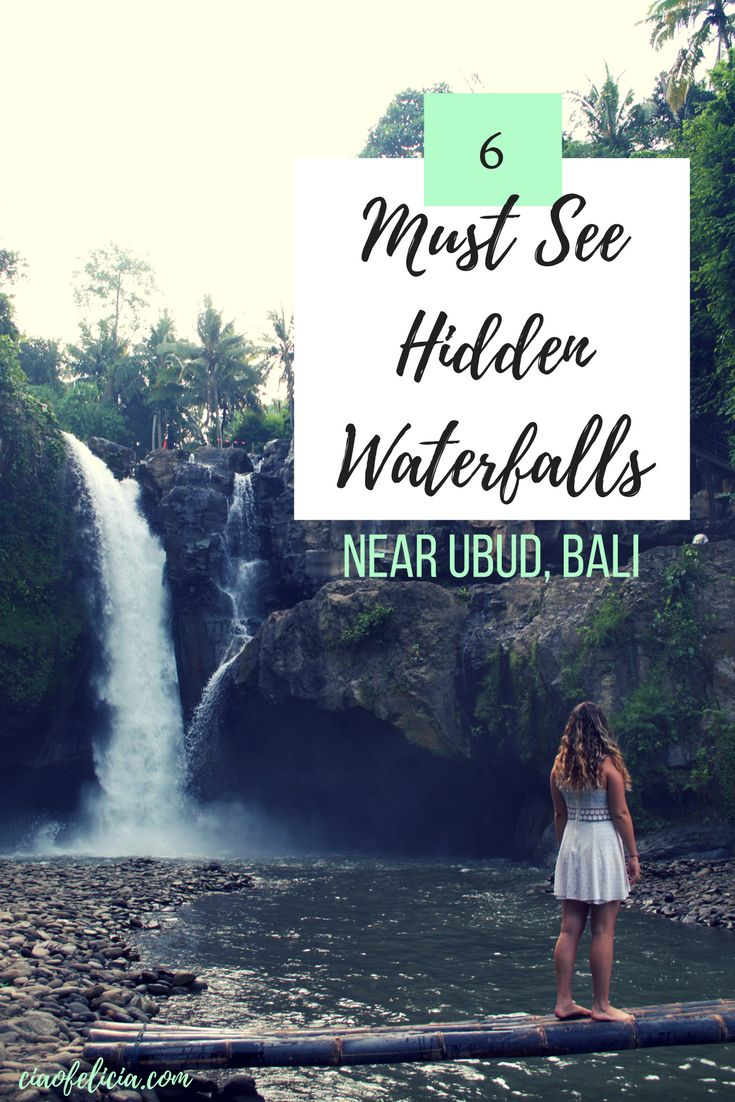 Amazing list of the best hidden waterfalls near Ubud, Bali in Indonesia!