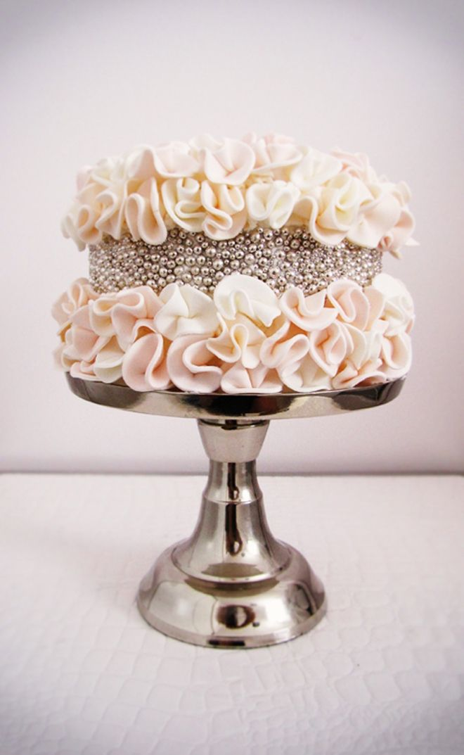 {Wedding Trends} : Ruffled Cakes - Belle the Magazine . The Wedding Blog For The Sophisticated Bride