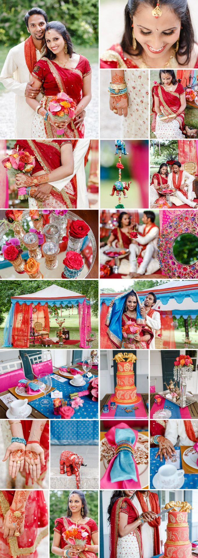 """Farbenfrohe, exotisch indische Hochzeit: Thema: """"Indian Love"""" von Trauwerk Hochzeitsplanung  Fotografie: OctaviaplusKlaus"""