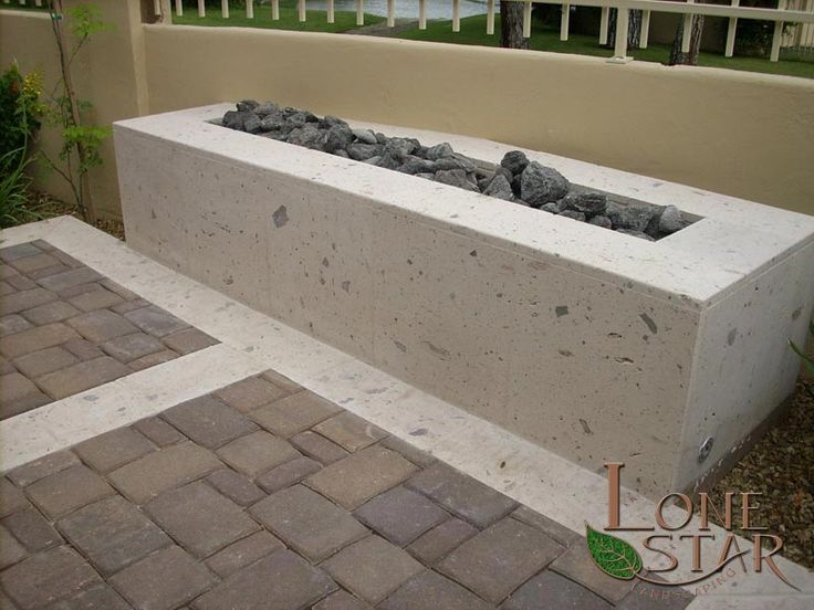 Cantera stone fire pit with feather rock in Phoenix ...