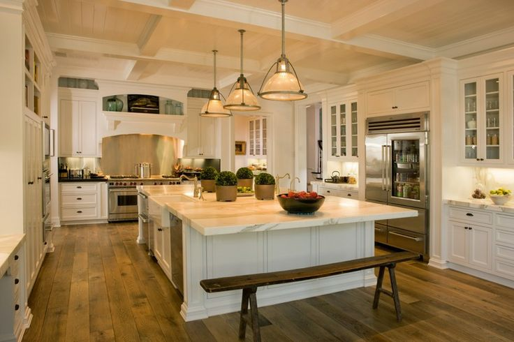 David Phoenix - Interior Designer, LA, CA. #Kitchen #MassiveIsland