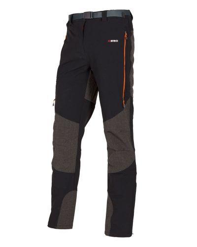 Pantalones técnicos para alpinismo y escalada. Tejido cortavientos, elástico, repelente al agua. Refuerzos en hilo de kevlar.