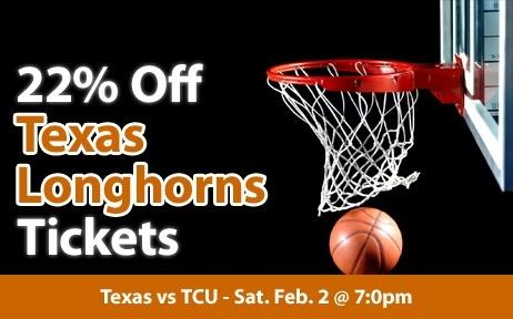 $18 (22% off) Texas Longhorns Basketball Tickets vs TCU Sat. Feb. 2 @ 7:00pm - Crowd Seats Cheap Sports Tickets