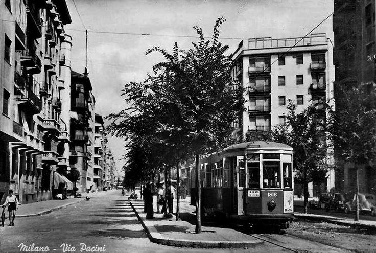 Via Pacini (Milano) negli anni '50.