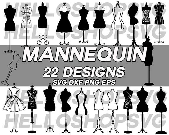silhouette cut files commercial /& personal use Seamstress Mannequin Clipart cameo Seamstress Mannequin Svg Monogram Frame cricut