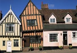 Lavenham, England - When I lived in England, this was one of my favorite villages to visit. It's a medeival town famous for it's crooked buildings and history.