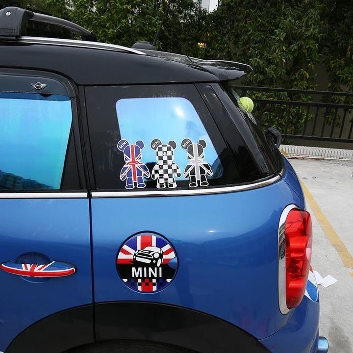 Popobe Bear Mini Cooper Decal Cute Sticker Cute Car Accessories Cute Stickers Cute Cars