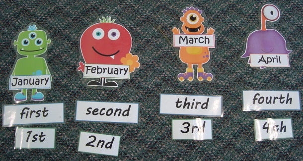 FREE Monster Months and Ordinal Numbers