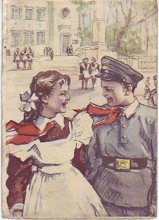 """После экзамена / After examination"", 1956. Худ. Л.Острова (L.Ostrova)."