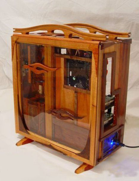 Elegant wood pc case