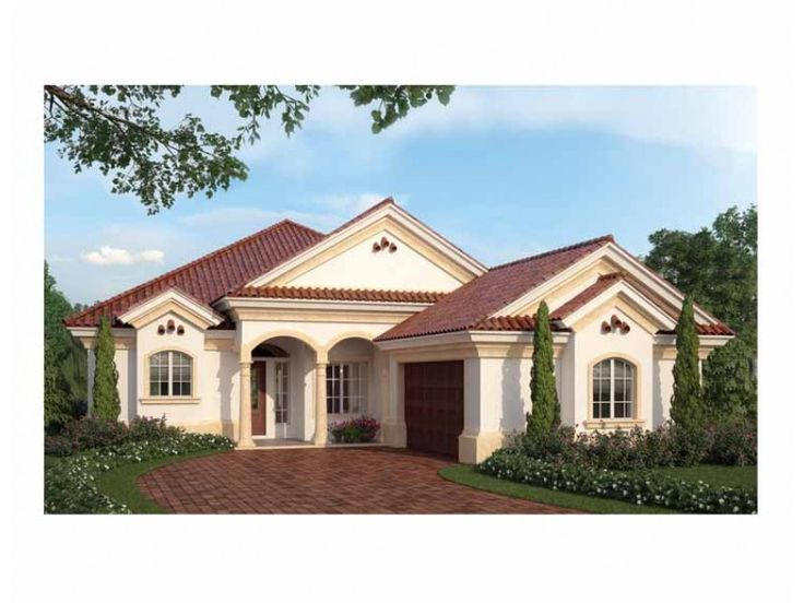 Eplans House Plan Dramatic Arches On This Mediterranean Plan From The Energy Saver Plus Home
