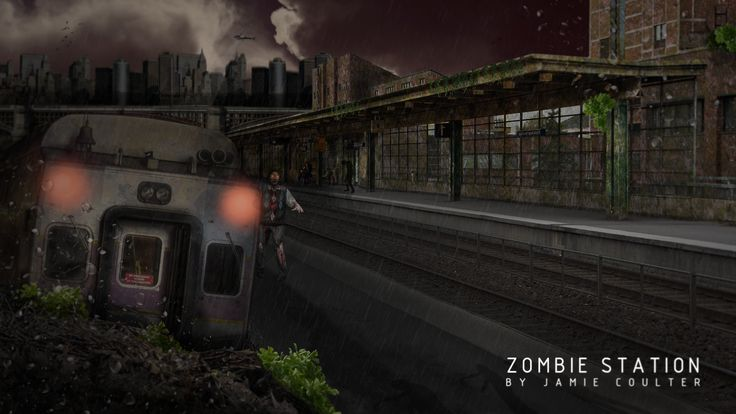 Zombie Trainstation Speed art. Video here on.fb.me/1ze8C5Q