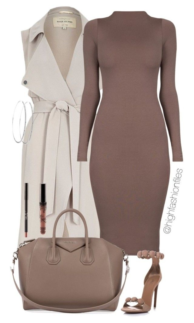 """Dolce"" by highfashionfiles ❤ liked on Polyvore featuring River Island, Givenchy and Alaïa"
