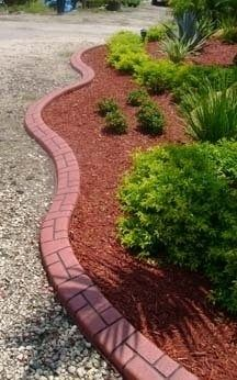 15 best images about red mulch on pinterest small yards for Easy to maintain garden borders