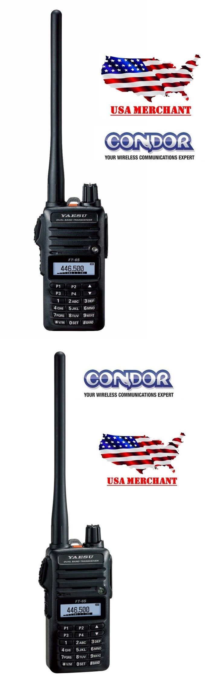 Ham Radio Transceivers: Yaesu Ft-65R - Vhf/Uhf 2 Meter/70Cm Dual Band Fm Handheld Transceiver BUY IT NOW ONLY: $189.95