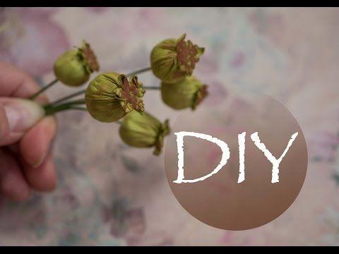 Коробочка мака из фоамирана Boll poppy from foam - https://www.youtube.com/watch?v=0WXF4BPDPlA