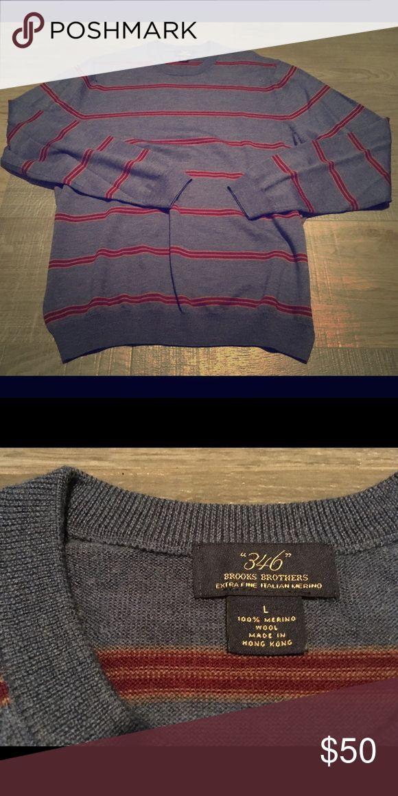 Brooks Brothers Merino Wool Crewneck men's sweater Excellent condition men's Merino Wool sweater x Brook Brothers Brooks Brothers Sweaters Crewneck