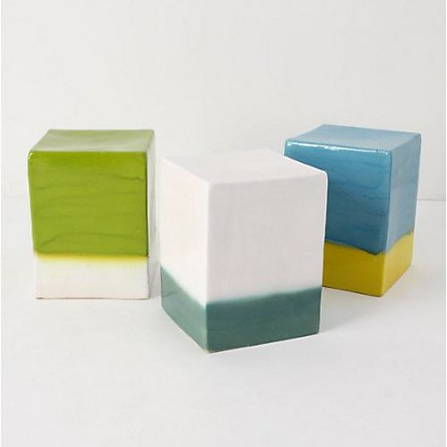 Ceramic garden stools: $148  these are beautiful and i love the dual colors, but are there too many hard surfaces and sharp edges for little kids?