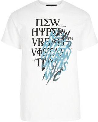 River Island Mens White scribble print T-shirt