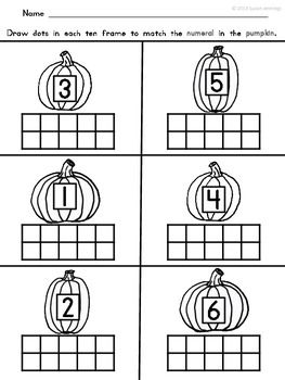 APPLES AND PUMPKINS TEN FRAME MATH - TeachersPayTeachers.com