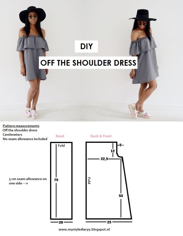DIY OFF THE SHOULDER DRESS