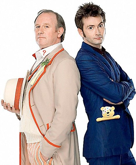 Peter Davison and David Tennant David Tennant and Georgia Elizabeth Moffett