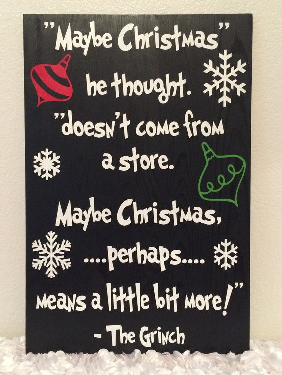 How the Grinch stole Christmas sign by LovelyChicCustoms on Etsy