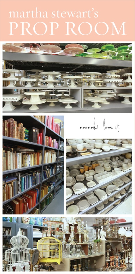 """martha stewart's prop room - i want to work here as the """"librarian"""""""