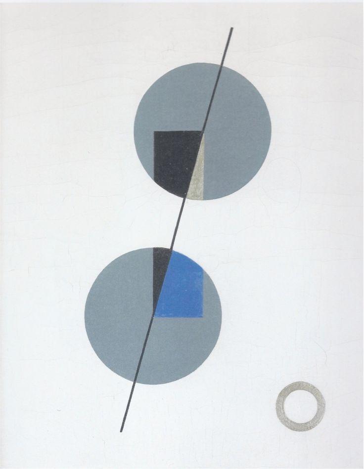 Sophie Taeuber Equilibre / Balance Huile sur toile / Oil on canvas 32 x 25.5 cm 1931