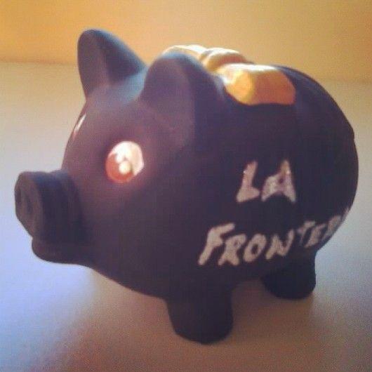 #Hucha #personalizada por @ManualiMIX - Artesanía Creativa & Productos Personalizados para @LAfrontera #Cultura y #Turismo - #Hucherdita