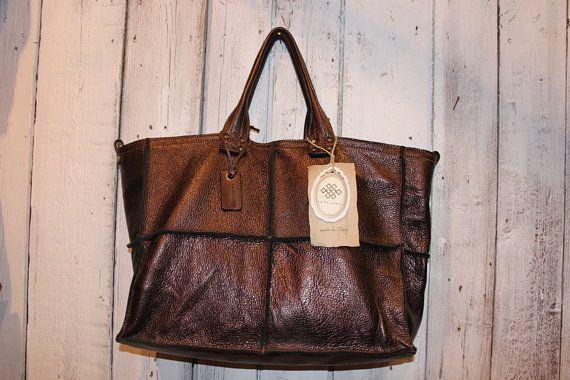 TOWN BAG borsa in pelle di vitello colorato a di LaSellerieLimited