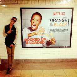 OITNB cast with their character posters #poussey