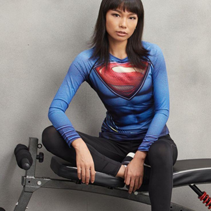 Superman Compression Longsleeve //Price: $25.00 & FREE Shipping //     #superheroez #superheroes #marvel #dccomics