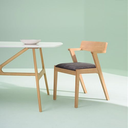 Zola Dining Chair - Natural, Spring Green
