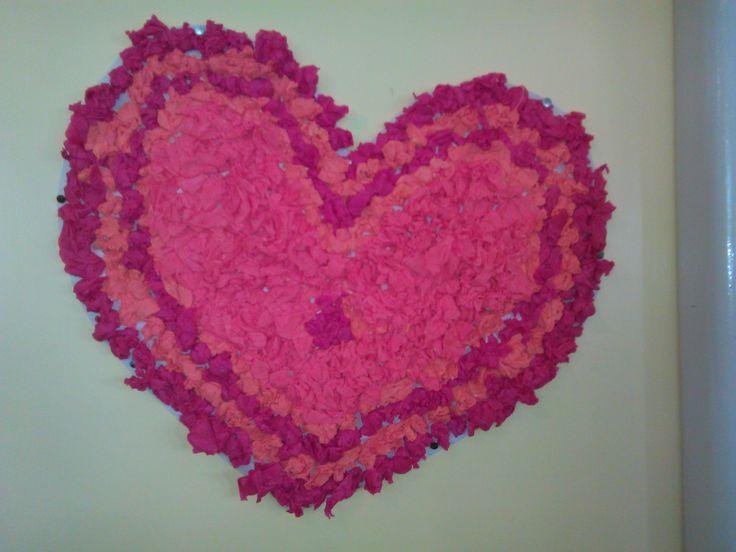 Srdce z krepového papiera