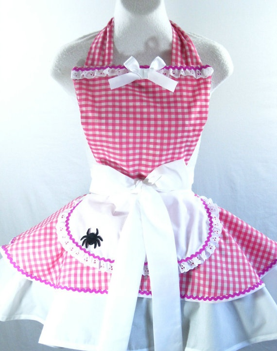 Little Miss Muffet Apron Costume with Removable Black by sjcnace4, $55.00