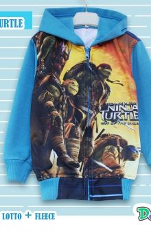 Jaket Anak Cowok 3 Tahun ninja turtle blue