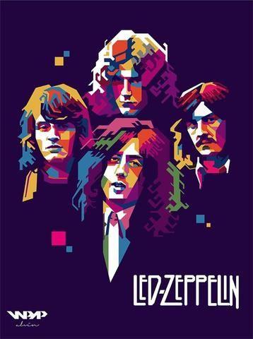 Led Zeppelin - Mini Print A