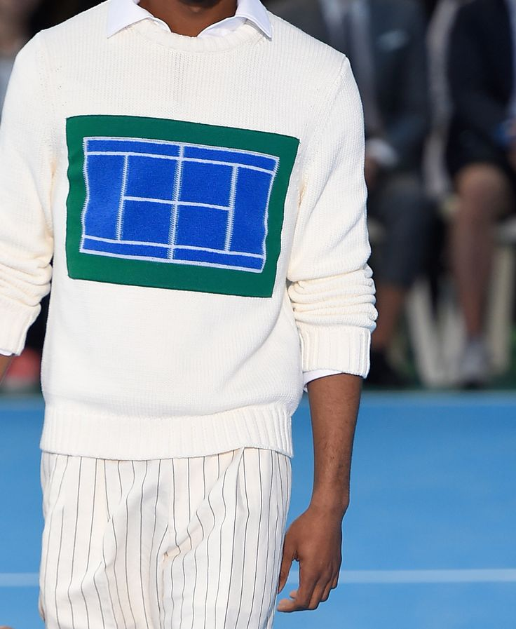 "wgsn:  ""Let's go down to the tennis court, and talk it up like yeah."" A clean prep look worth talking about from Umit Benan"