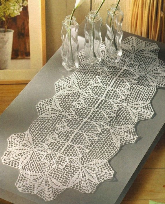 Crochet Table Runner : ... at http://www.etsy.com/listing/64869779/crocheted-table-runner-romance